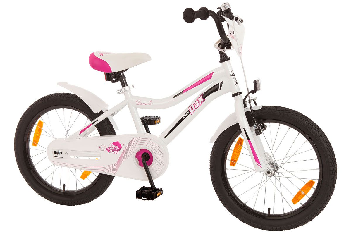 bachtenkirch kinderfahrrad 18 zoll dana wei pink rh 28 cm. Black Bedroom Furniture Sets. Home Design Ideas
