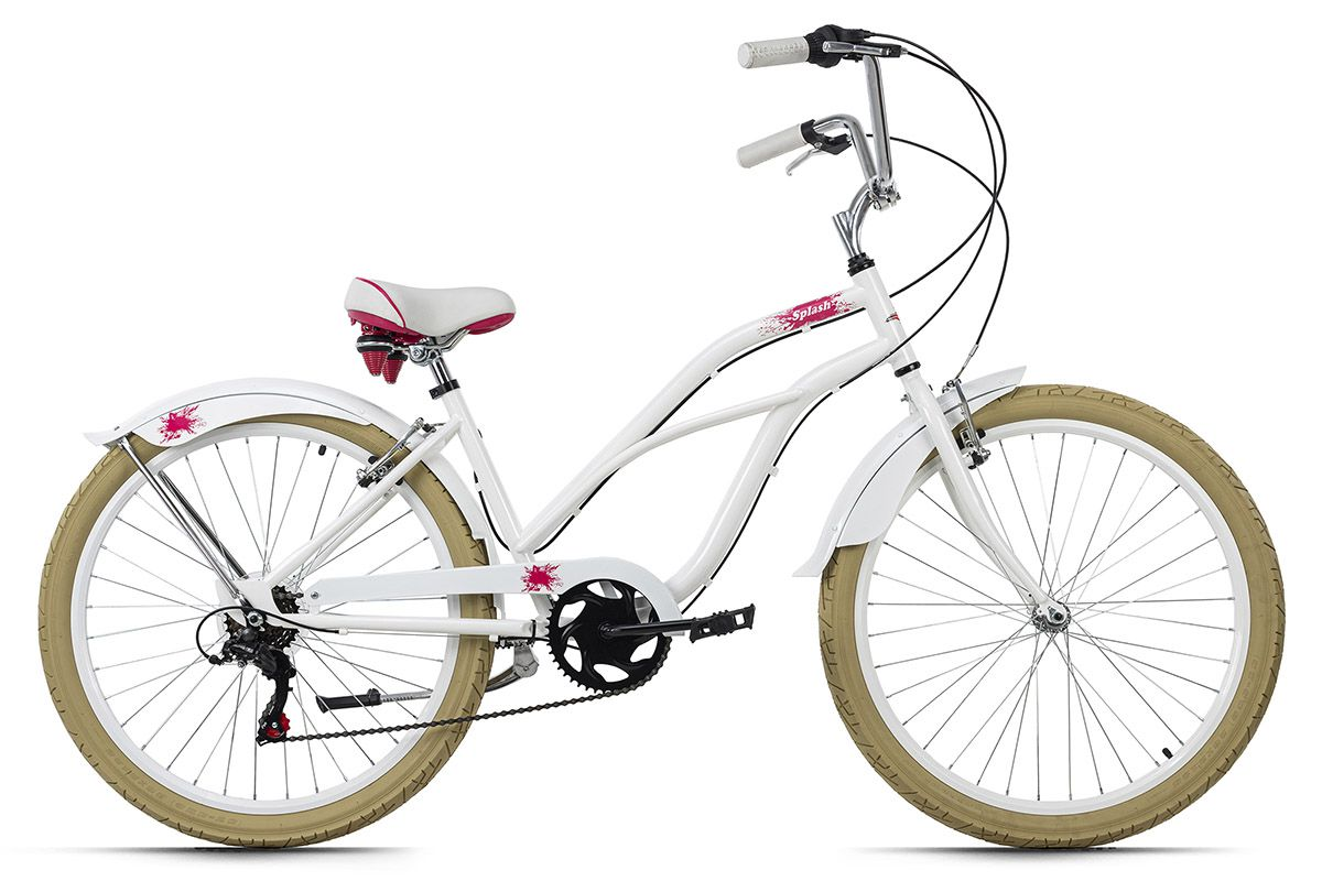 Beachcruiser 26'' Splash weiß RH 44 cm KS Cycling