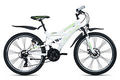 Mountainbike ATB  Fully 24'' 4Masters weiß-grün RH 42 cm KS Cycling
