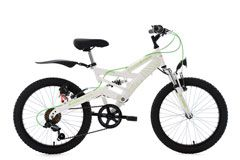 Kinder-Mountainbike 20'' 4Masters weiß-grün RH 36 cm KS Cycling