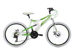 Mountainbike MTB Fully 24'' Topeka weiß-grün RH 41 cm KS Cycling