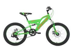 Mountainbike Fully 20'' Xtraxx grün-orange RH 30 cm KS Cycling