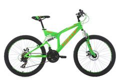 Mountainbike Fully MTB Xtraxx 24'' grün-orange RH 43 cm KS Cycling