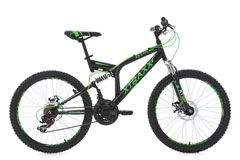 Mountainbike Fully MTB Xtraxx 24'' schwarz-grün RH 43 cm KS Cycling