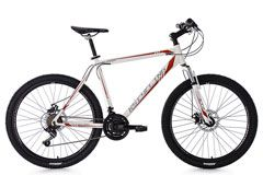 Mountainbike Hardtail MTB 26'' Sharp weiß-rot RH 51 cm KS Cycling