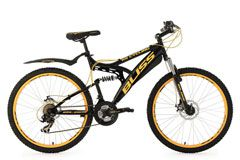 Mountainbike Fully 26'' Bliss schwarz-gelb RH 47 cm KS Cycling