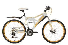Mountainbike Fully 26'' Bliss weiß-gelb RH 47 cm KS Cycling