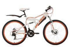Mountainbike Fully 26'' Bliss weiß-orange RH 47 cm KS Cycling