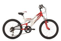"Kinderfahrrad Mountainbike Fully 20"" Zodiac rot-weiß RH 31 cm KS Cycling"