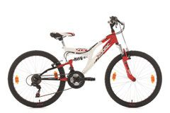 Kinderfahrrad Mountainbike Fully 24'' Zodiac rot-weiß RH 38 cm KS Cycling