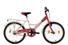 Kinderfahrrad 20'' Cherry Heart weiß-pink RH 36 cm KS Cycling