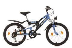 "Kinderfahrrad Mountainbike Fully 20"" Zodiac schwarz-blau RH 31 cm KS Cycling"