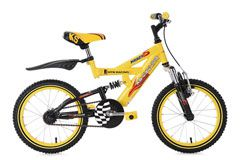Kinder-Mountainbike16'' Krazy gelb RH 30 cm KS Cycling