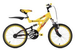 Kinder-Mountainbike 18'' Krazy gelb RH 32 cm KS Cycling