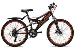 Mountainbike Fully 24'' Bliss schwarz-orange RH 38 cm KS Cycling