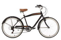 Beachcruiser 26'' Vintage schwarz RH 46 cm KS Cycling