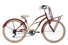 Beachcruiser Cargo Cruiser 26'' Kahuna rot-beige RH 41 cm KS Cycling