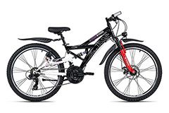 Kinder-Mountainbike 24'' ATB 4Masters schwarz RH 42 cm KS Cycling