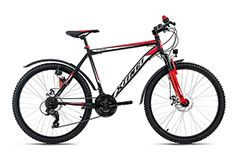 Mountainbike Hardtail ATB 26'' Xtinct schwarz-rot RH 50 cm KS Cycling