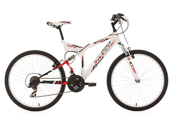 Mountainbike MTB Fully 26'' Zodiac weiß RH 48 cm KS Cycling