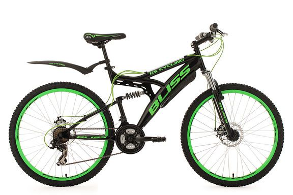 Mountainbike Fully 26'' Bliss schwarz-grün RH 47 cm KS Cycling
