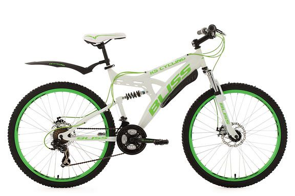 Mountainbike Fully 26'' Bliss weiß-grün RH 47 cm KS Cycling