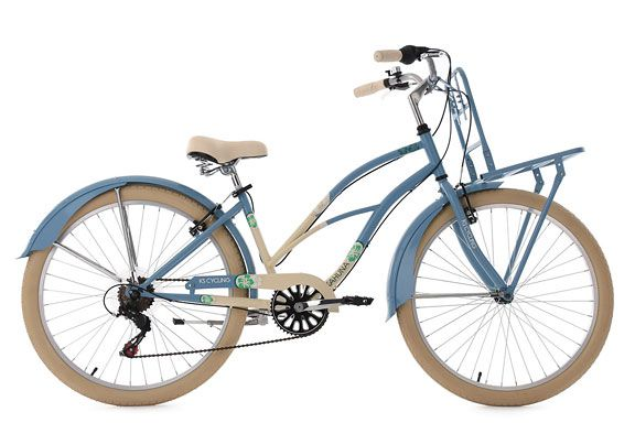Beachcruiser Cargo Cruiser 26'' Kahuna blau-beige RH 41 cm KS Cycling